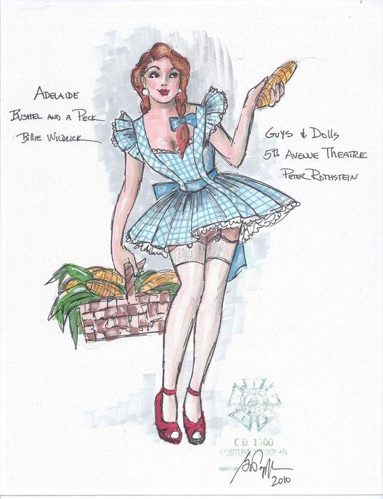 Guys and Dolls (Adelaide - Bushel and a Peck). 5th Avenue Theatre. Costume design by Gregory A. Poplyk.