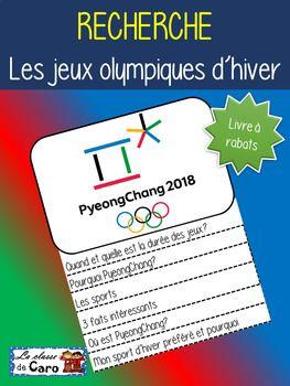 Ce document contient: 2 pages à imprimer par élève pour le livret + 1 logo L'élève fera une recherche sur les Jeux olympiques d'hiver à PyeongChang. Disponible en paquet (bundle): BUNDLE #1 - PAQUET #1 LES JEUX OLYMPIQUES D'HIVER (FRENCH FSL)