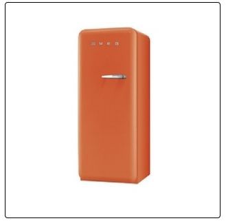 ORANGE smeg Standkühlschrank mit Gefrierfach, FAB28LO1 orange Linksanschlag A++