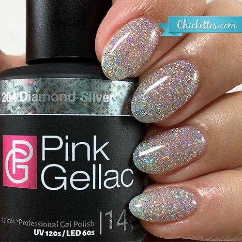 Pink Gellac gel nail polish - Diamond Silver $12.95