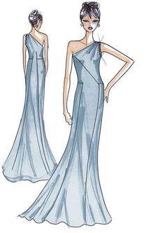 Schnittmuster: Abendkleid - elegant fließend - Abendkleider - Festliche Mode - Damen - burda style