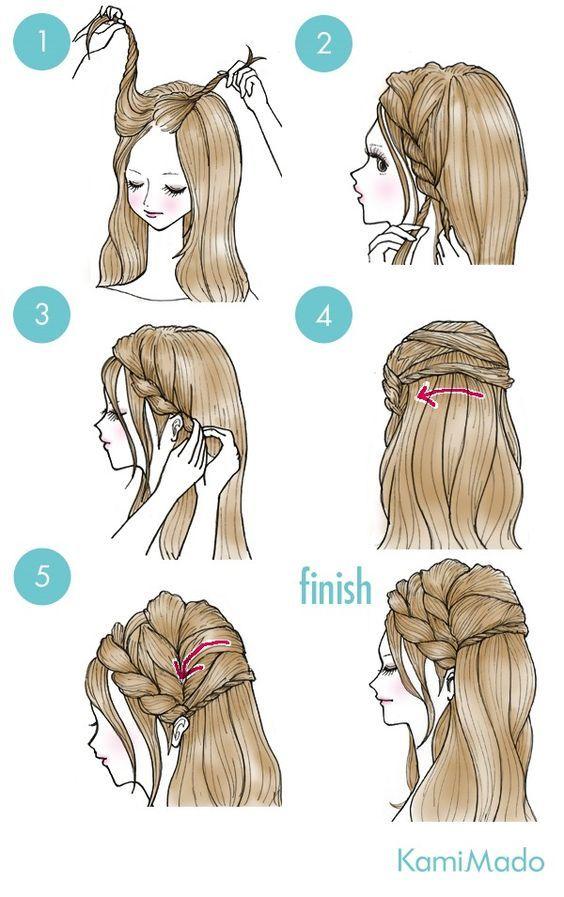 *_* hairstyle hair  side braid elegant