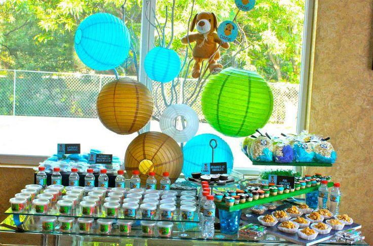Mesa Dulce Y Salada Animalitos Para Babyshower Daniel En