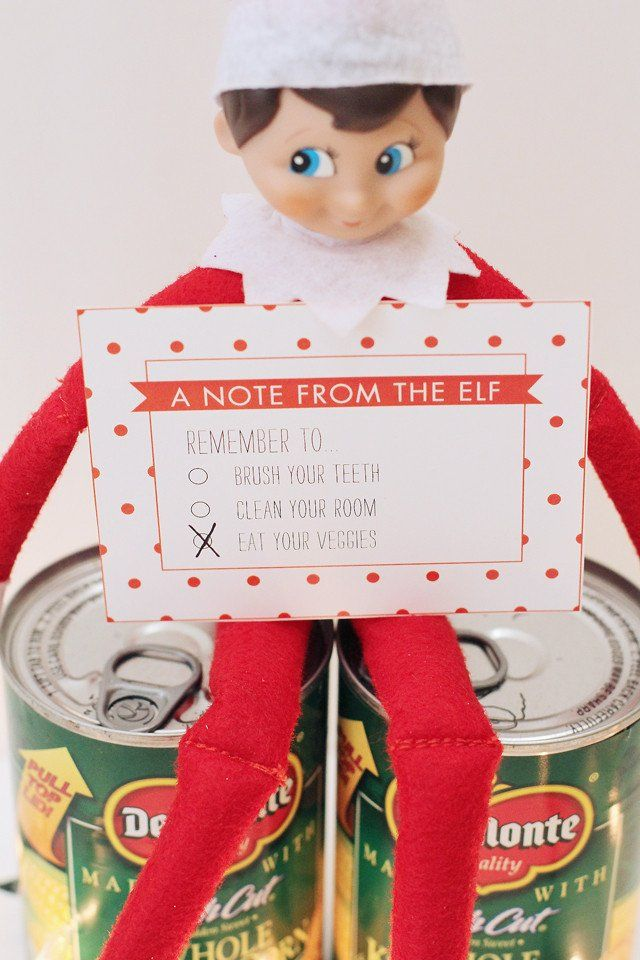 Elf on the Shelf Note Cards -- Instant Download Printable ...