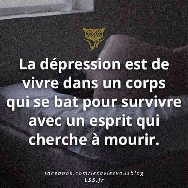 La dépression.