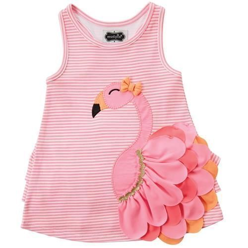 Mud Pie Flamingo Dress Girl Size 09M-5T #1142166 NWT