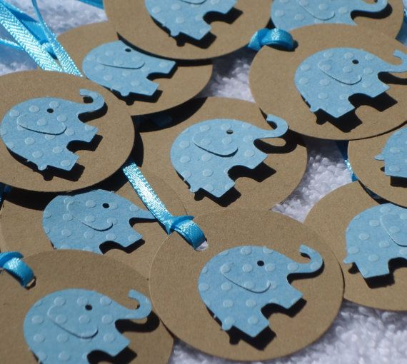 12 Tags  Baby Shower baby boy tags Blue by AllOverCreations, $2.75