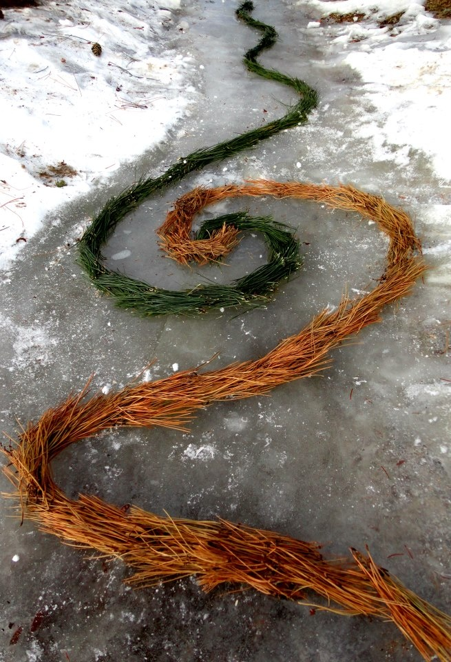 Patrick Liang  -environmental art :P  Inspired by Andy Goldsworthy - Rivers and Tides