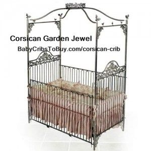 Corsican Garden Jewel Iron Crib to match a Garden Baby Nursery Theme. All Corsican's cribs are very unique & of high quality. Check out more design at http://babycribstobuy.com/category/corsican-crib