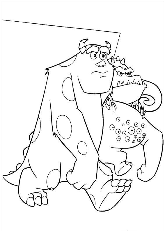 Monsters University Birthday Coloring Page