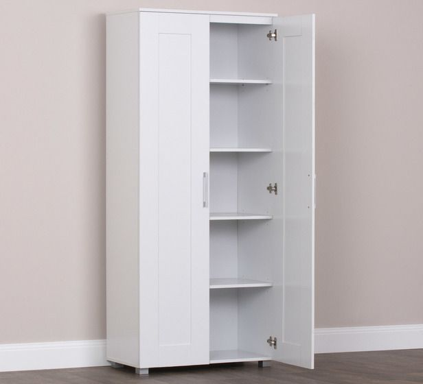 Montreal 2 Door Pantry Cupboard Fantastic Furniture Bookshelf Storage Pantry Cupboard Bookcase With Glass Doors