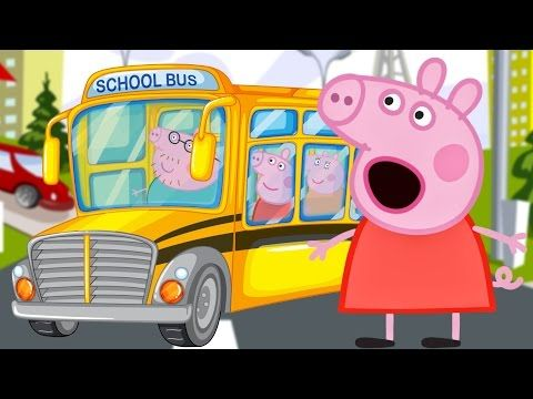 THE WHEELS ON THE BUS GO ROUND AND ROUND SONG - PEPPA PIG NURSERY RHYME SING A LONG WITH LYRICS - YouTube