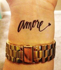 Sexy Short Love Quote Tattoos for Girls - Long Black Short Love... - Tattoo - Sexy: Black words tattoos for girl by Quote Tattoos