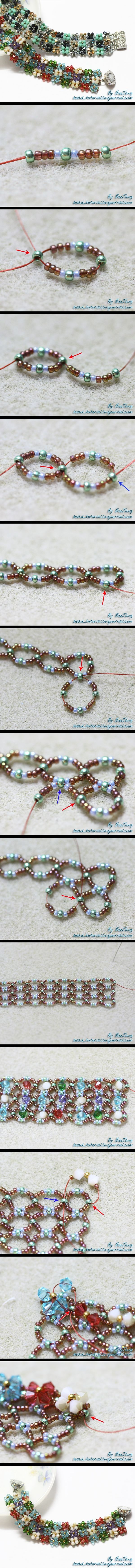 PAP bracelet So Beautiful...i wonder how the artist came to do this. at any rate, i always loved daisy chain flowers - this is a step beyond...