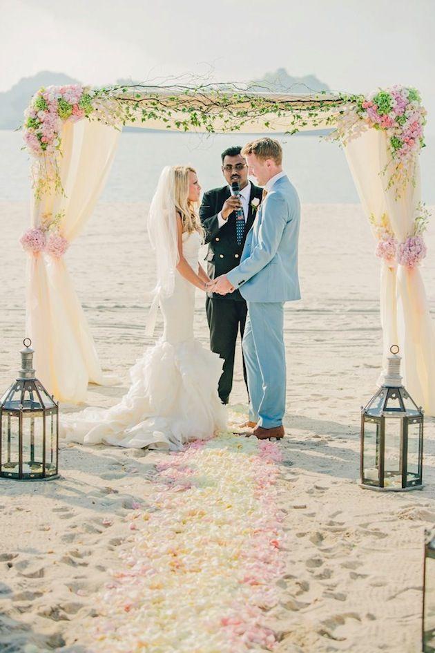 Romantic Destination Wedding in Malaysia - beautiful ceremony set up!