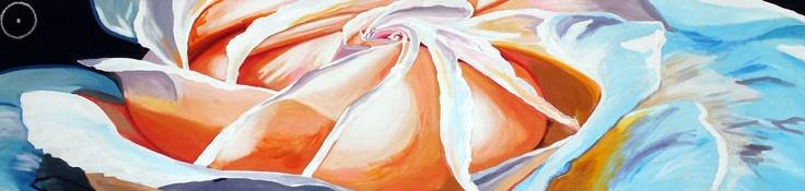 tecnica mista su tela, 2mx60cm, 2012, Rosa Bianca, Loretta Usai
