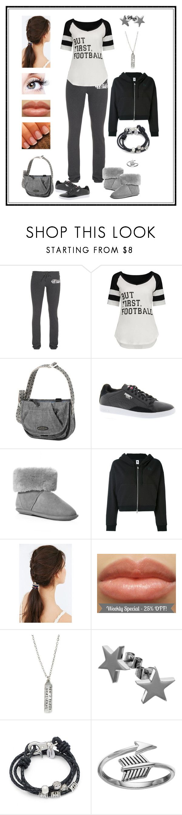 """Untitled # 786"" by binasa87 ❤ liked on Polyvore featuring Wildfox, Keen Footwear, Puma, Just Sheepskin, NIKE, Urban Outfitters, Hot Topic, Lizzy James and Primrose"