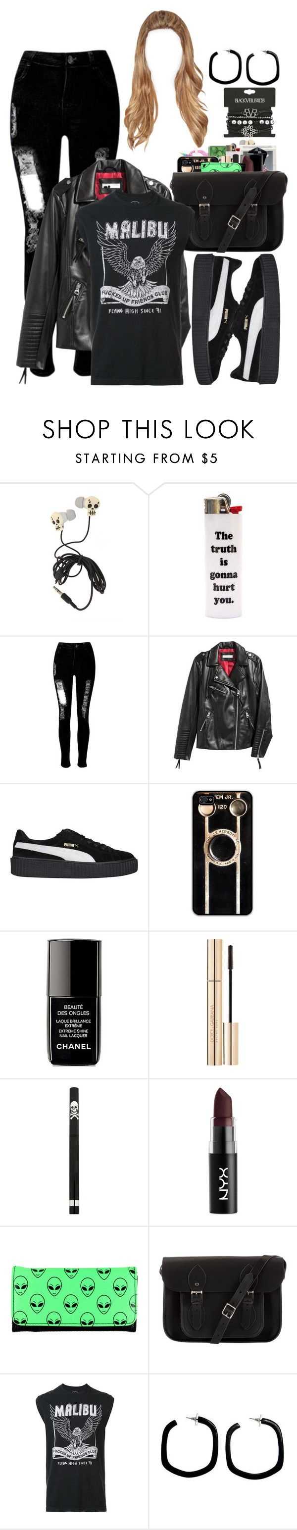 """""""Untitled #567"""" by eduardafrancisca69 ❤ liked on Polyvore featuring WithChic, Forum, Puma, Retrò, Chanel, Dolce&Gabbana, NYX, The Cambridge Satchel Company, Local Authority and NOVICA"""