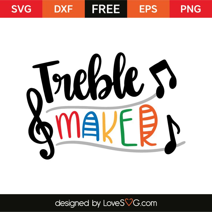 Download Treble maker (With images) | Svg files for cricut, Treble ...