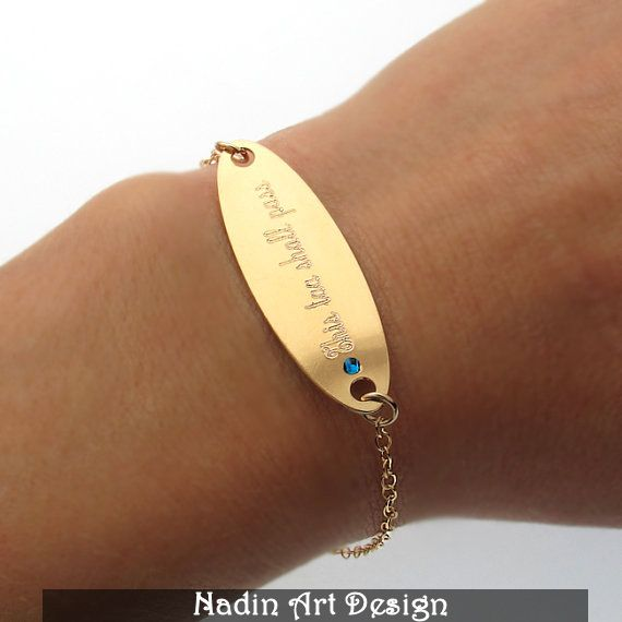 Monogram Graviertes Armband / Schmuck mit Gravur von NadinArtDesign auf DaWanda.com