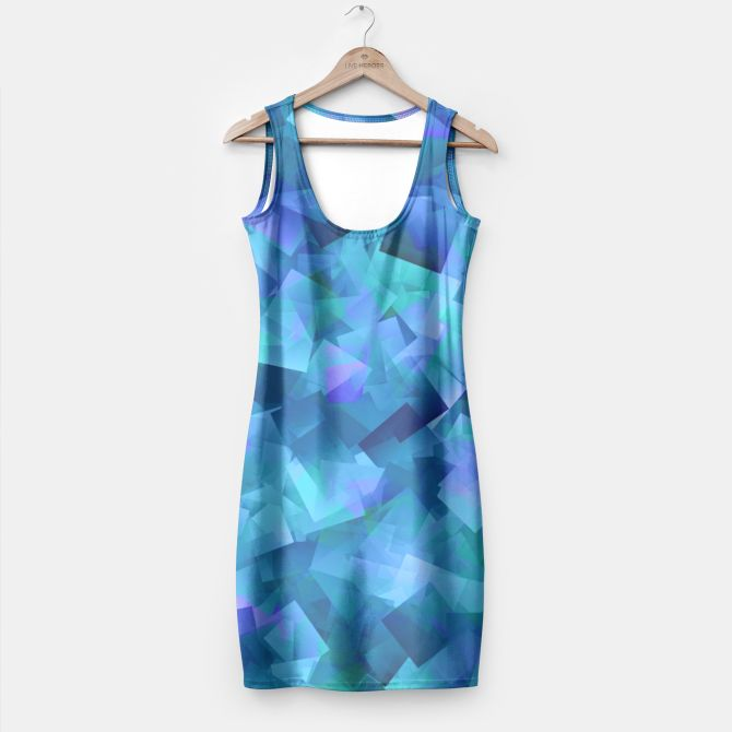 Hues Of Blue Cut Paper Pattern Simple Dress, Live Heroes