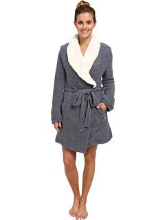 Sherpa fleece lined French terry robe from Splendid. #sleep #lounge #cozy