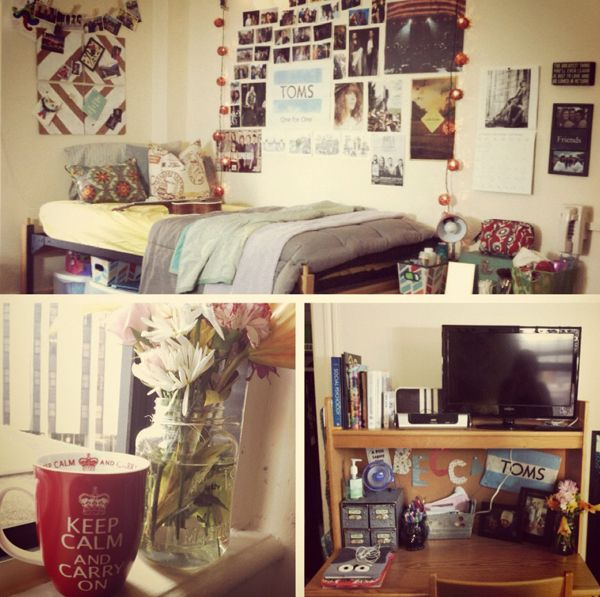 107 best images about small spaces dorm on pinterest for Cool college bedrooms
