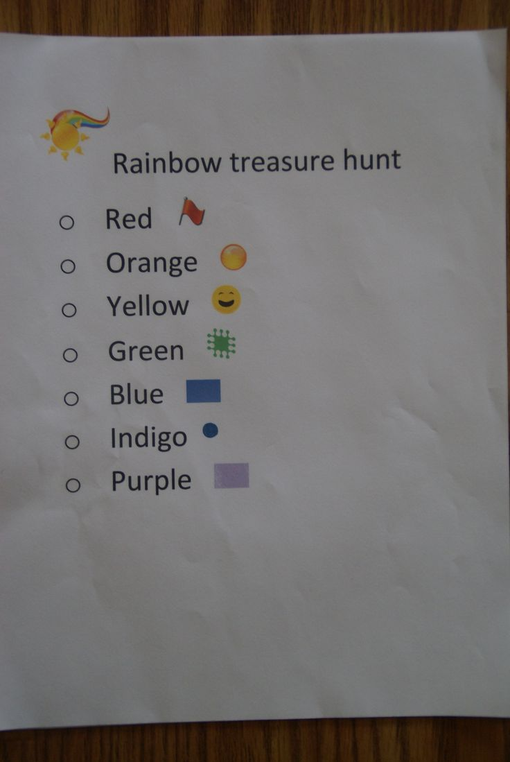 We had a rainbow treasure hunt at the party for 4 year olds! They loved it. I had them find an item of each color and bring it to me. for every item they found I gave them a gold chocolate coin. This was my take on this idea - http://familyfun.go.com/printables/st-patricks-day-treasure-hunt-1036011/