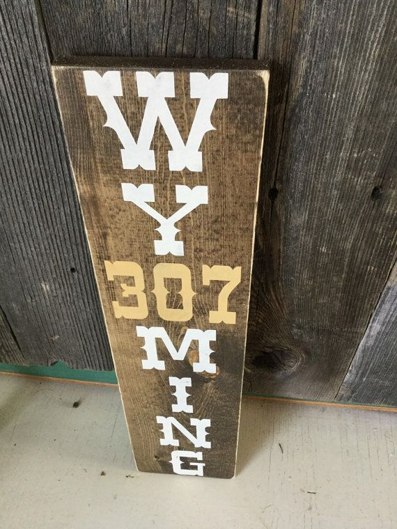 Wyoming 307 Decor / Wyoming Pride/ Brown and Gold/ 307 / Go Pokes / Home Decor / Hand Cut