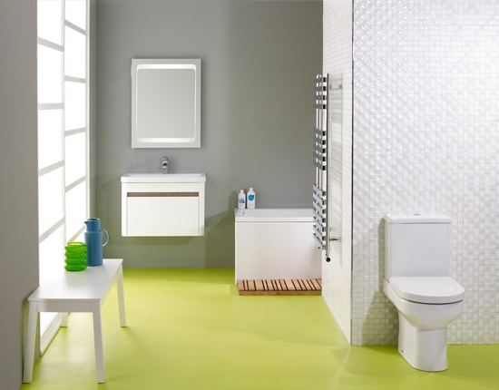 Green Bathroom Flooring from the Colours Collection by Harvey Maria