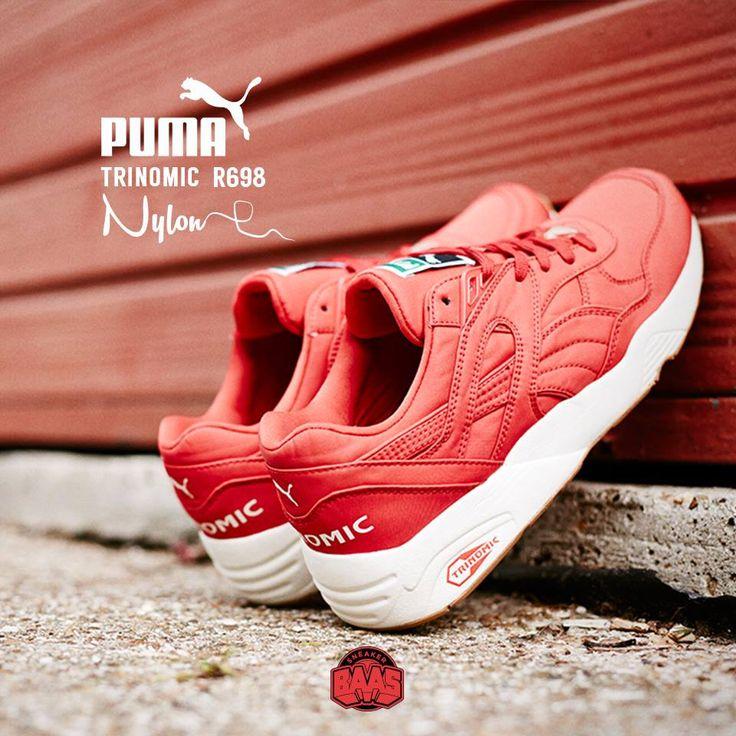 "#puma #pumar698 #pumatrinomic #r698 #r968nylon #sneakerbaas #baasbovenbaas  Puma Trinomic R698 ""Nylon"" Red - Now available online, priced at 89.99 Euro  For more info about your order please send an e-mail to webshop #sneakerbaas.com!"