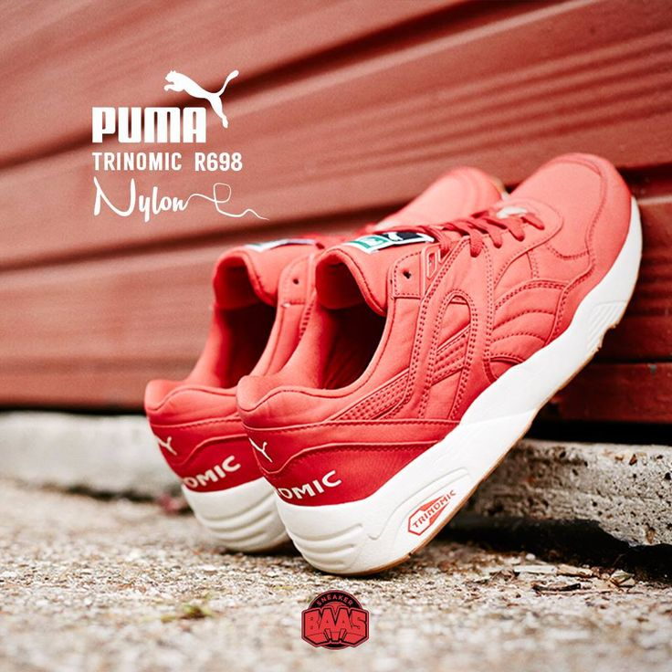 "#puma #pumar698 #pumatrinomic #r698 #r968nylon #sneakerbaas #baasbovenbaas  Puma Trinomic R698 ""Nylon"" Red - Now available online, priced at 89.99 Euro  For more info about your order please send an e-mail to webshop #sneakerbaas.com!"