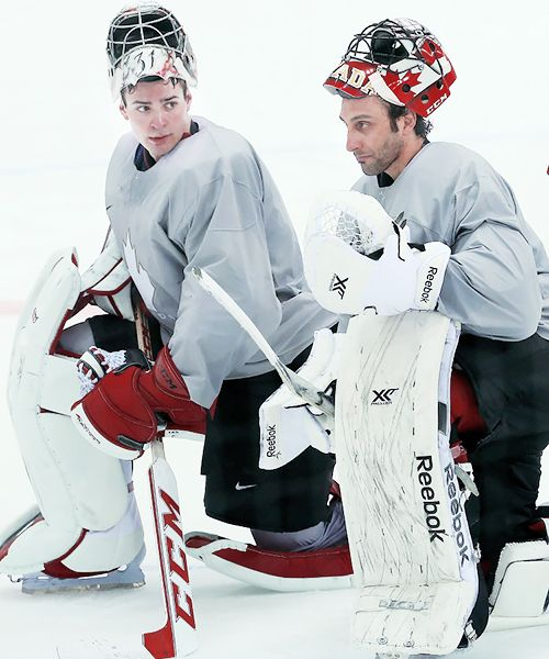 Carey Price and Roberto Luongo, Team Canada (Source: pyatts / Tumblr)