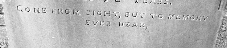 Victorian headstone inscription.