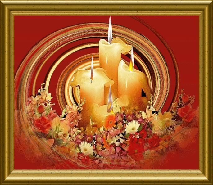 Для, свеча открытка