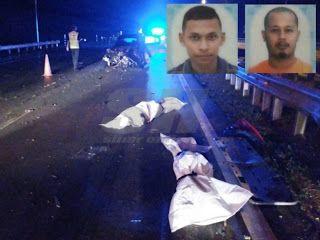Dua lagi maut dalam masa kurang 24 jam   Belum sampai 24 jam kemalangan menyayat hati yang mengorbankan dua anggota polis trafik Ibu Pejabat Polis Daerah (IPD) Dungun di Kemaman satu lagi nahas jalan raya mengakibatkan dua lagi mangsa maut di daerah ini awal pagi tadi.  Kejadian kira-kira jam 2.50 pagi di Kilometer (Km) 258 Lebuhraya Pantai Timur 2 (LPT2) berhampiran Hentian Rehat dan Rawat (R&R) Perasing itu meragut nyawa Mohamad Zaiful Azlan Embong 53 yang beralamat di Jalan Selat Tasek…