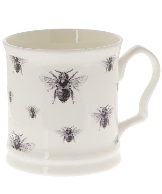 White Napoleon Repeating Bees Mug