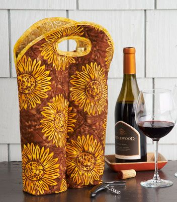 Quilt Magazine | Quilt Magazine » Blog Archive » Simple Quilts: Winter 2012 – Hostess Wine Bag
