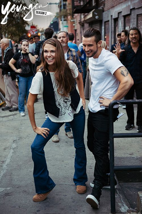 Sutton Foster and Nico Tortorella on the set of Younger season two. New episodes Wednesdays at 10/9C on TV Land. Click to discover full episodes.