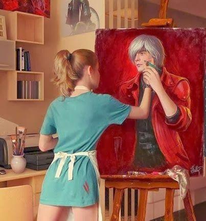peinture dessin femme homme