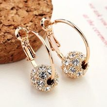 2017 New Fashion Austrian Crystal Gold  Earrings High Quality Earrings For Woman Wedding Jewelry Boucle D'oreille Femme //FREE Shipping Worldwide //