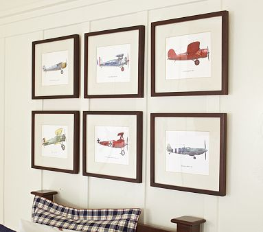 Pottery Barn Look-Alikes: Pottery Barn Kids Framed Vintage Plane Art