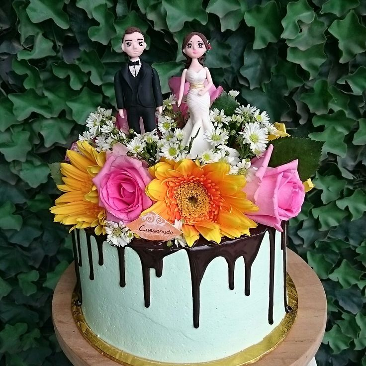 Simple yet stunning Mint Chocolate Cake for Engagement
