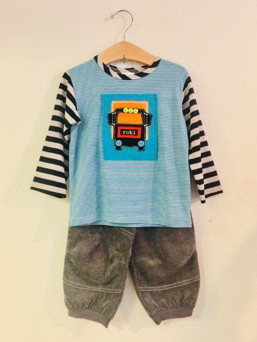 11cad2940 Zaza+Couture+Gertrude+Boys+Truck+2-Piece+Pant+Set
