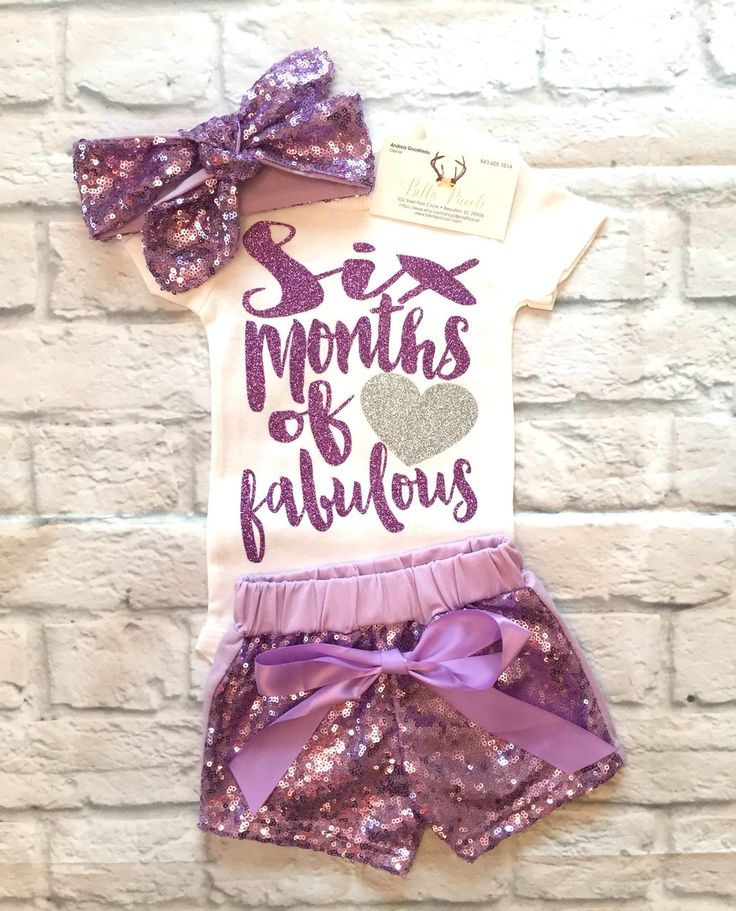 Baby Girl Clothes, Six Months Of Fabulous, Half Birthday Bodysuit, Half Birthday Onesie, Six Months Of Fabulous Shirt, Smash Cake Shirts, Half Birthday Shirts - BellaPiccoli