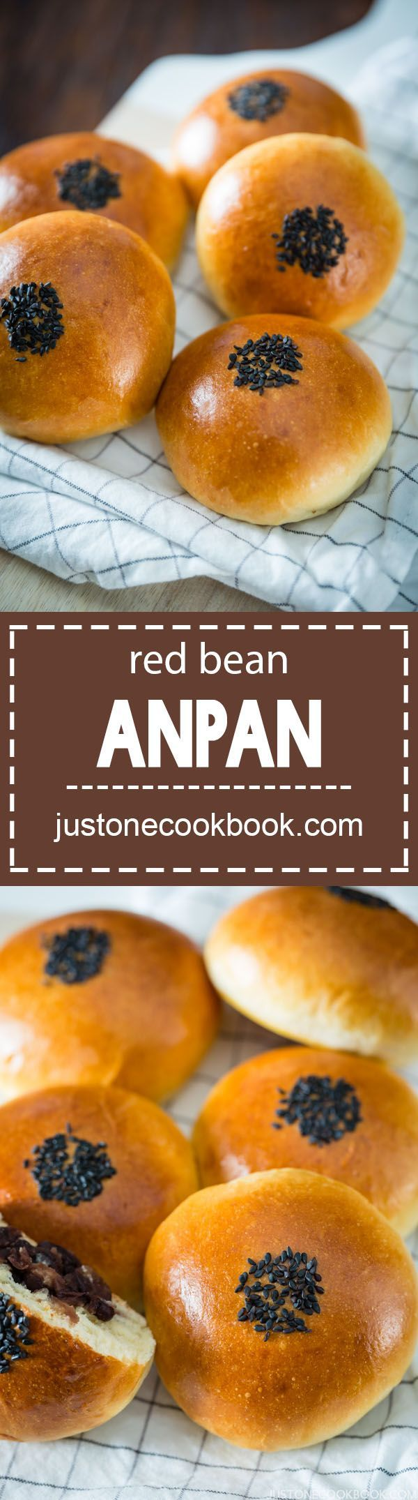 Anpan - Japanese Sweet Red Bean Bun (あんパン) | Easy Japanese Recipes at http://JustOneCookbook.com
