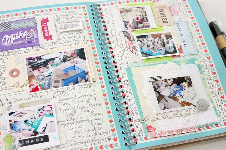 Adding scrapbooking products and lots of journaling
