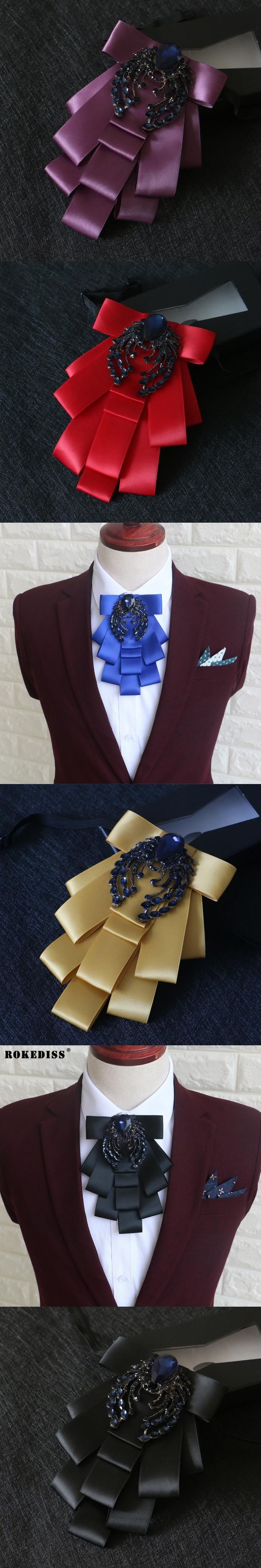 ROKEDISS British multi-storey diamond big collar flower Korean version of the wedding groom groom wedding bow tie Z309