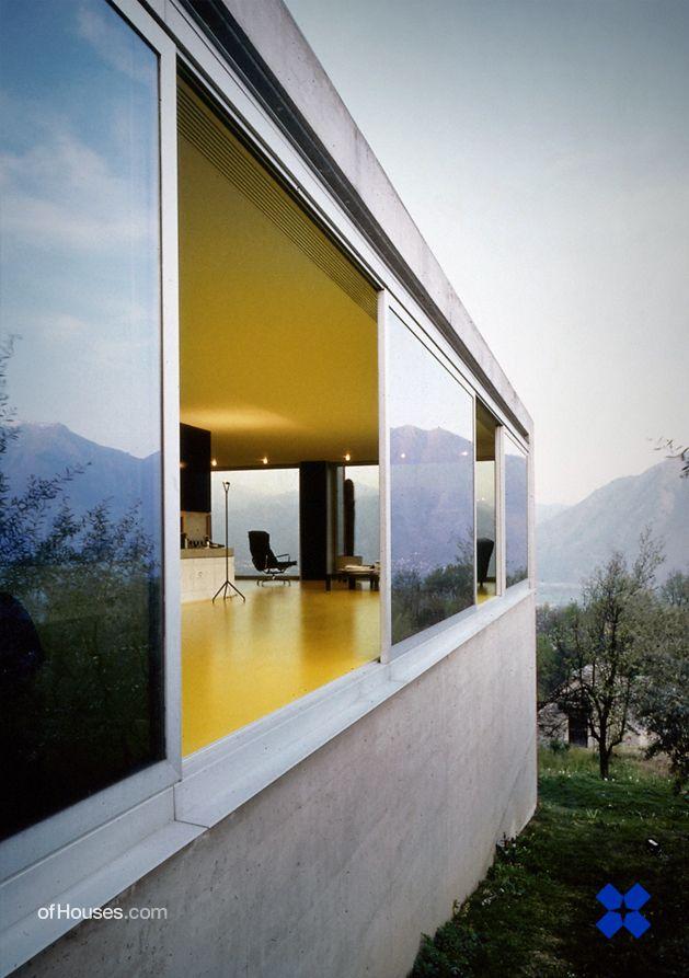 Livio Vacchini /// Vacchini Residence /// Costa, Tenero-Contra, Ticino, Switzerland /// 1991-1992 - OfHouses