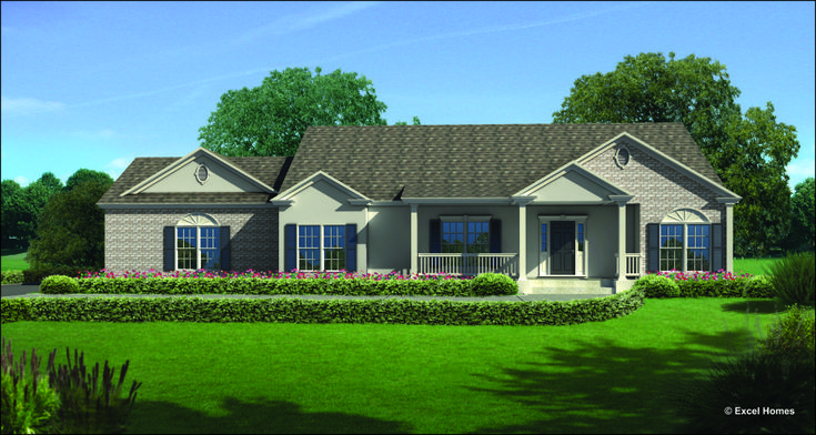 Bellevue of generation ranch collection modular home floor for One level modular homes